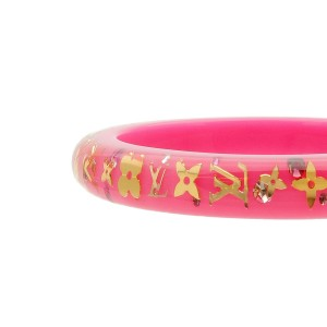 Authentic Louis Vuitton Bracelet Inclusion TPM Bangle Pink M65578 Used F/S