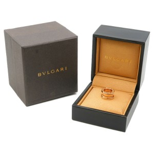 Authentic BVLGARI B-zero1 Pendant Top Charm K18 750 Rose Gold Used F/S