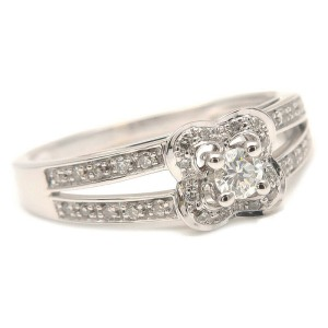 Authentic MAUBOUSSIN Chance of Love Diamond Ring White Gold US5 EU50 Used F/S