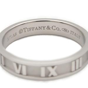 Authentic Tiffany&Co. Atlas Ring K18WG White Gold US7 HK16 EU55 Used F/S