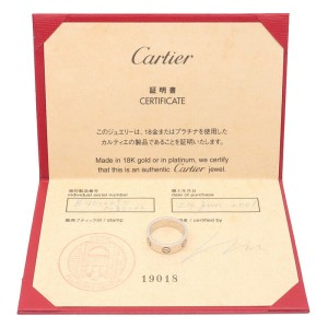 Authentic Cartier Love Ring 18K White Gold #50 US5-5.5 HK11.5 EU50 Used F/S