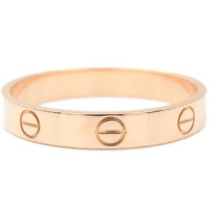 Authentic Cartier Mini Love Ring K18 Rose Gold #62 US10 HK22.5 EU62.5 Used F/S