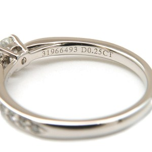 Auth Tiffany&Co. Harmony Diamond Ring 0.25ct Platinum US4.5 HK9.5 EU48 Used F/S