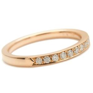 Authentic 4℃ Half Eternity Diamond Ring K18 Rose Gold US4.5 EU48 Used F/S