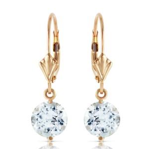 3.1 CTW 14K Solid Gold Prettygirl Aquamarine Earrings