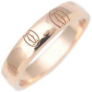 Authentic Cartier Happy Birth Day Ring Rose Gold #56 US7.5-8 EU56.5 Used F/S