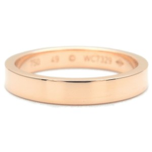 Authentic Cartier Engraved Ring 750PG Rose Gold #49 US5 HK10.5-11 EU49 Used F/S