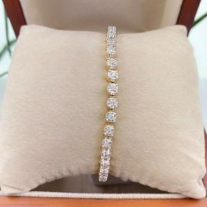 Round Diamond Tennis Bracelet 1.00 CTW 14K Yellow Gold 6.5''