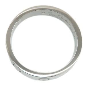 Authentic Cartier Mini Love Ring 1P Diamond K18 White Gold #51 US5.5-6 Used F/S