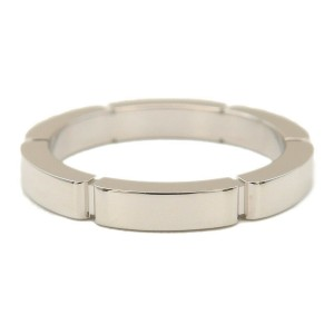 Authentic Cartier maillon panthère Ring K18 White Gold #49 US5 EU49 Used F/S