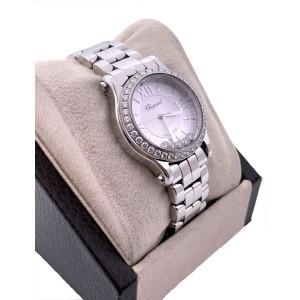 Chopard Happy Sport Mini 278573-3004 Silver Diamond Dial Bezel Stainless Box