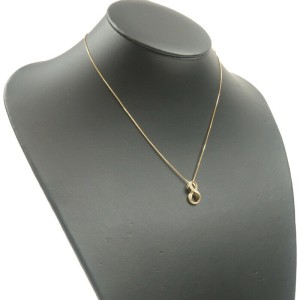 """Authentic NOMBRE ALPHA Number """"8"""" Diamond Necklace 0.19ct Yellow Gold Used F/S"""