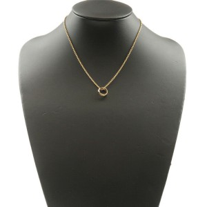 Authentic Cartier Trinity Necklace K18 750 Yellow/White/Rose Gold Used F/S