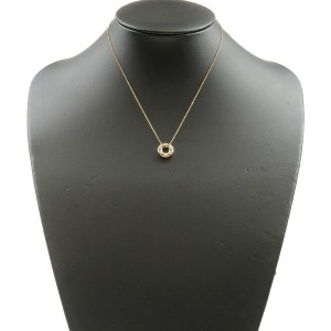 Authentic Tiffany&Co. Dots Circle 6P Diamond Necklace K18 750YG PT950 Used F/S