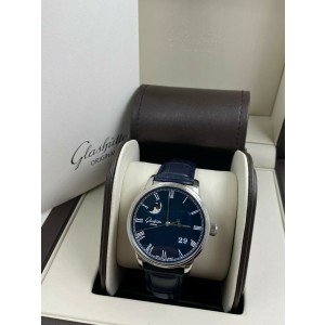 Glashutte 100-04-05-12-30 Senator Panorama Moonphase Stainless Steel Box Paper