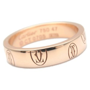 Authentic Cartier Happy Birth Day Ring Rose Gold #47 US4-4.5 EU47-47.5 Used F/S