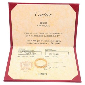 Authentic Cartier Happy Birth Day Ring Rose Gold #59 US9 HK20 EU59.5 Used F/S