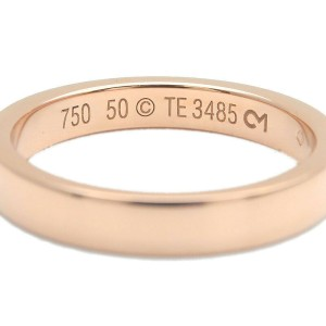Authentic Cartier Engraved Ring K18 Rose Gold #50 US5-5.5 HK11.5 EU50 Used F/S