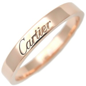 Authentic Cartier Engraved Ring K18 750 Rose Gold #56 US7.5-8 HK17 EU56 Used F/S