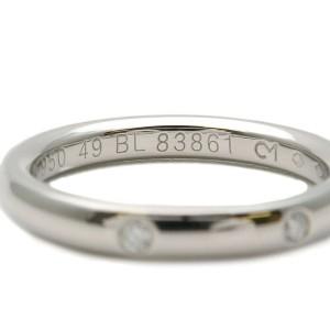 Authentic Van Cleef & Arpels Infini Étoile 3P Diamond Ring PT950 US5 Used F/S