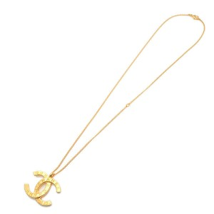 CHANEL CoCo Mark Necklace Gold B20A
