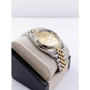 BRAND NEW Datejust 116233 Champagne 18K Yellow Gold Stainless Box Paper STICKERS
