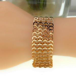 18kt Rose Gold ChainMail Bracelet