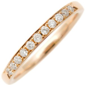 Authentic 4℃ Half Eternity Diamond Ring K18 Rose Gold US4.5 EU48 Used F/S