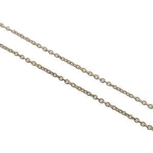 Auth Tiffany&Co. By the Yard 1P Diamond Necklace 0.12ct K18 Yellow Gold Used F/S