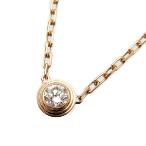 Auth Cartier Diamants Légers Necklace SM 1P Diamond 0.09ct Rose Gold Used F/S