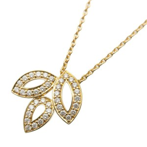 Authentic HARRY WINSTON Lily Cluster Mini Diamond Necklace Yellow Gold Used F/S