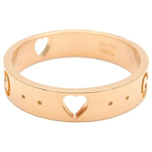 Authentic GUCCI ICON Amor Ring K18 750 Rose Gold #11 US5.5-6 HK12 EU51 Used F/S