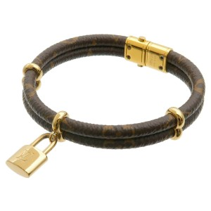 Authentic Louis Vuitton Monogram Bracelet Keep it Twice Bangle M6640E Used F/S