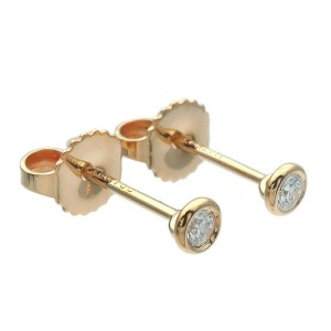 Authentic Tiffany&Co. By the Yard Diamond Earrings 0.05ct Yellow Gold Used F/S