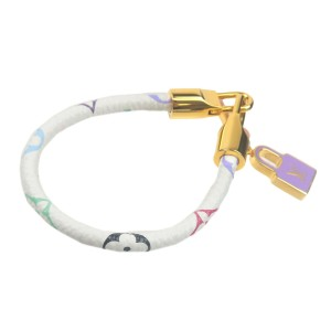 Authentic Louis Vuitton Monogram Multi Color Bracelet Luck It M6604F Used F/S
