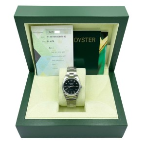 Rolex 14000 Air King Black Dial Stainless Steel 2007 Box Papers