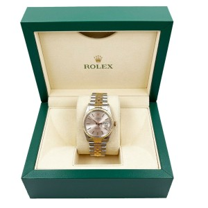 Rolex 16253 Datejust Silver Dial 18K Yellow Gold Stainless Steel with Box