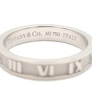 Authentic Tiffany&Co. Atlas Ring K18WG White Gold US6.5 HK14.5 EU53.5 Used F/S