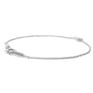 Authentic Tiffany&Co. By the Yard 1P Diamond Bracelet 0.03ct Silver 925 Used F/S