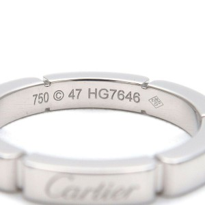 Authentic Cartier maillon Panthère Ring White Gold #47 US4-4.5 EU47 Used F/S