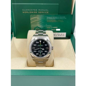 BRAND NEW Rolex 116900 Air King Black Dial Stainless Steel Box Papers 2020