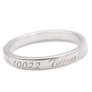Authentic Tiffany&Co. Notes Narrow New York Ring Silver US9.5 HK21 EU61 Used F/S
