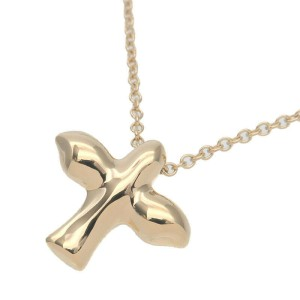 Authentic Tiffany & Co. Bird Cross Necklace K18 750YG Yellow Gold Used F/S