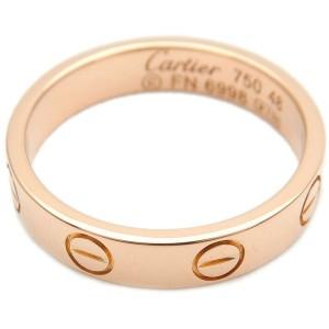 Authentic Cartier Mini Love Ring K18 750 Rose Gold #48 US4.5 HK9.5 EU48 Used F/S