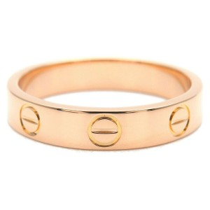 Authentic Cartier Mini Love Ring Rose Gold #51 US5.5-6 HK12.5 EU51.5 Used F/S