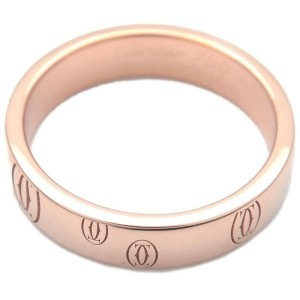 Authentic Cartier Happy Birth Day Ring Rose Gold #48 US4.5-5 EU48.5 Used F/S