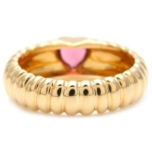 Auth Tiffany&Co. Lived Friendship Ring Tourmaline Yellow Gold US4-4.5 Used F/S