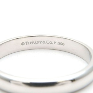 Authentic Tiffany&Co. Classic Band Ring PT950 Platinum US7 HK15.5 EU54 Used F/S