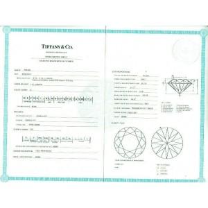 TIFFANY & CO Round Diamond 1.34 tcw Channel Set Diamond Band Engagement Ring
