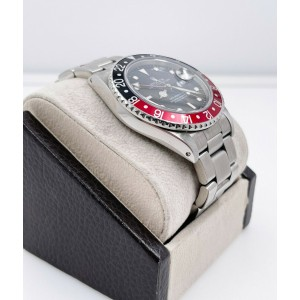 Rolex GMT Master II 16760 Fat Lady Coke Red Black Bezel Stainless Steel